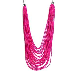 Anthropologie Pink Seed Bead Necklace